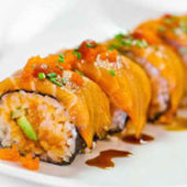 spicy salmon sushi